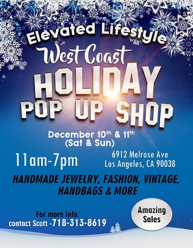 Elevated Lifestyle West Coast Holiday Pop Up Shop