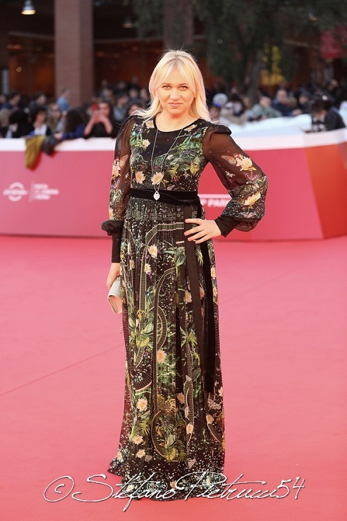 Silvia Busacca wore a dress purchased in milan of the best italian designer